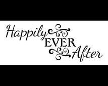 """Happily Ever After Word Art Stencil - Magical - 11"""" X 4.5"""" - STCL874_1"""