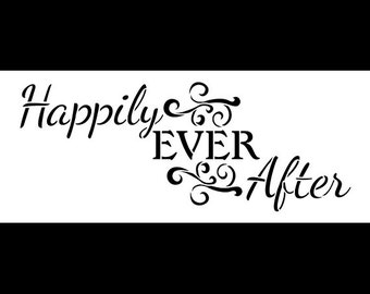 "Happily Ever After Word Art Stencil - Magical - 11"" X 4.5"" - STCL874_1"