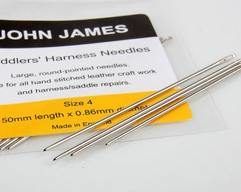 Saddlers needles Aiguilles Selliers, Leather Hand Sewing Needles, JOHN JAMES Leather craft tools MLT-332