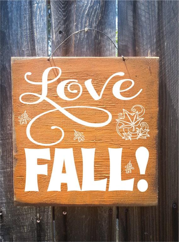 fall decor, autumn decor, Fall Words Sign, Thanksgiving decor, holiday decor, fall decor, love fall, I love fall, fall sign