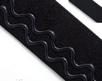 "5/8"" Woven Elastic With Wavy Centered Silicone :131105"