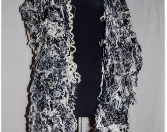 NEW!!!!!!!!!!!!!!!!!!!Wool scarf-stole in the technique of crazy vul.