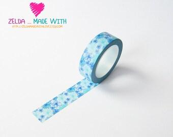 Japanese Washi Masking Tape - FlowerAzure