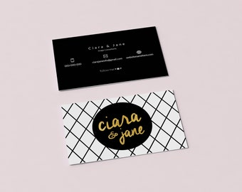 Ciara double sided business card - Instant download