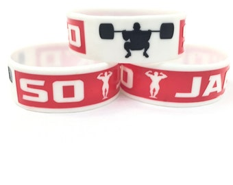 """AthleticEdge So Jack'd 1"""" Silicone Fitness Wristband Red"""
