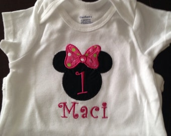 Boy or girl mickey mouse shirt