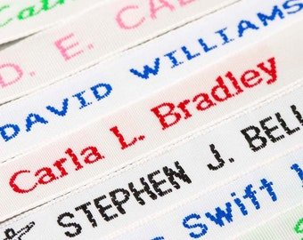 Woven Name Tapes / Labels / Tags for School Uniform, Nursing Homes
