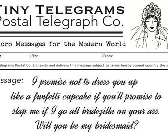 Bridesmaid Proposal- Ready to Send