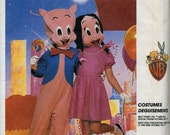 Childs  Porky Pig  and Petunia Pig Halloween Costume Sewing Pattern   McCalls 2747  Uncut , sizes 6 - 8