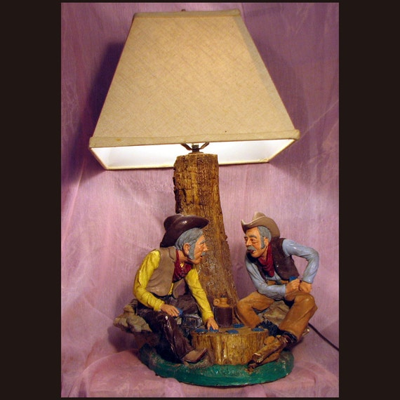Cowboy Table Lamp Western Style Light Saloon Themed Light