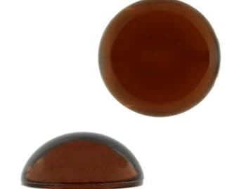 18mm Round Lucite Cabochon - Topaz (144pcs)