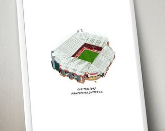 Old Trafford Manchester United Poster