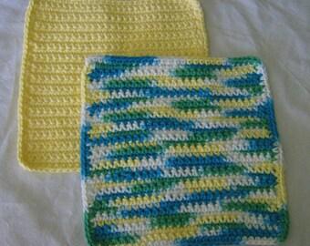 100% Cotton Crochet Crocheted Washcloths Dishcloths Dishrags