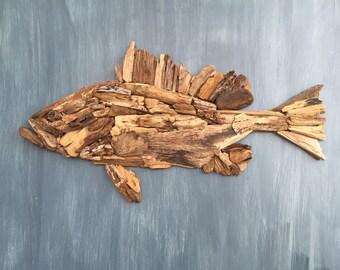 Driftwood Grouper Coastal Wall Decor