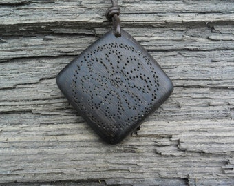 Irish bog oak Equinox Pendant