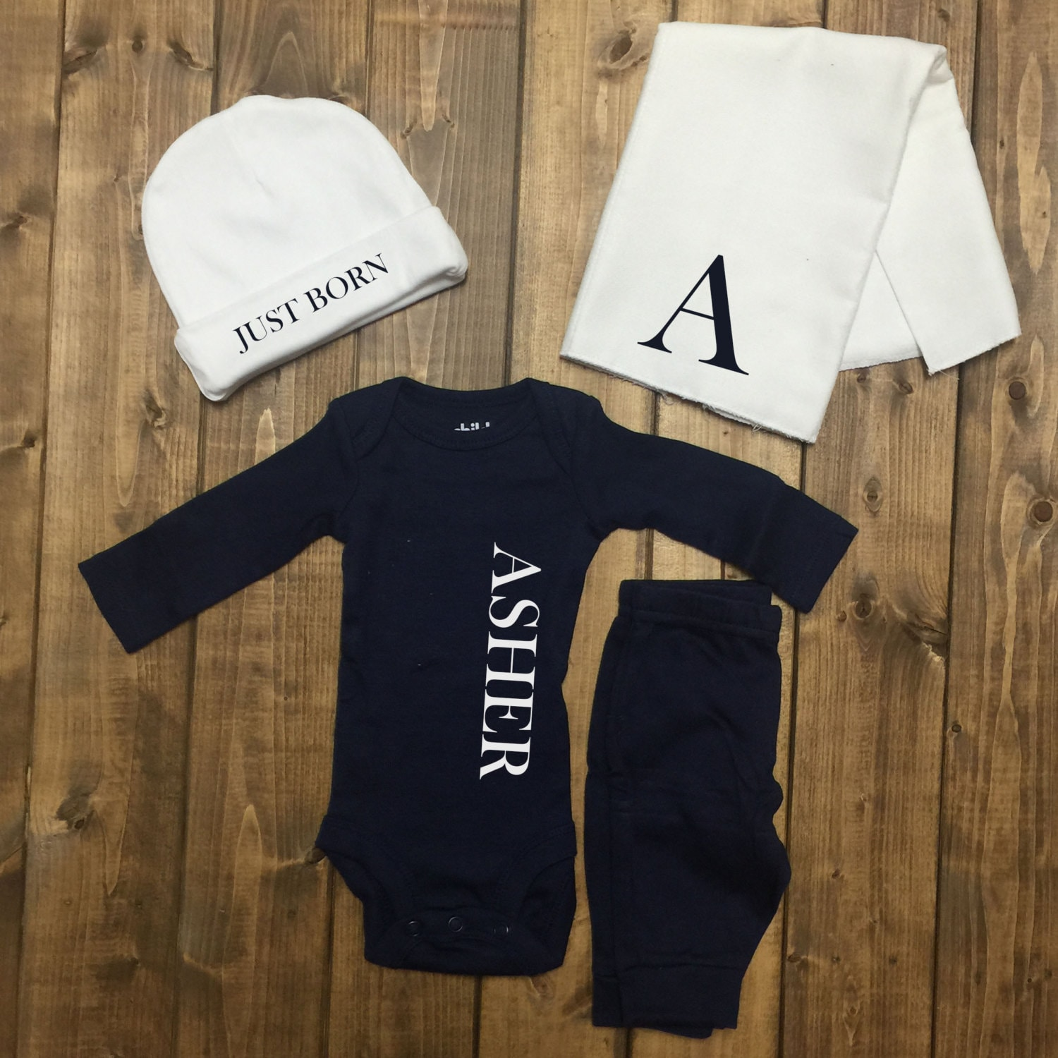 Personalized Baby Boy Coming Home Outfit Boys by LineLiam on Etsy