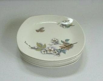 Six Midwinter Stylecraft Fashion side plates - Orchard Blossom