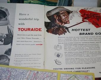 Conoco Road Atlas set Touraide, 1953, 1955, 1960 Atlas