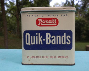 Vintage Rexall bandage tin