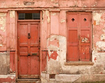 Europe Photography, Red Door Photo, London, Europe Print, Fine Art Print, Rustic Home Decor, Travel Photography, Red, Pink, Wall Art