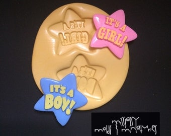 It's a BOY! It's a GIRL! Silicone Mold