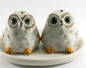 Owl, salt and pepper shakers -  2461