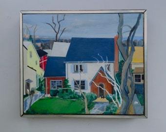 Charming Oil Painting Of Amagansett Long Island