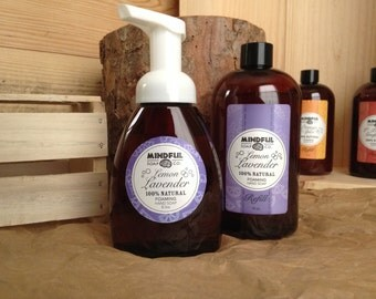 Lemon Lavender Foaming Soap and Refill Combo