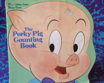 Book ~ The Porky Pig Counting Book ~ a Golden Super Shape Book ~ 1986 ~ Children's Book ~ Bugs Bunny ~ Paperback ~ My Nostalgic Life