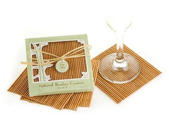 3 Boxes of Natural Bamboo Eco-Friendly Coaster Favors