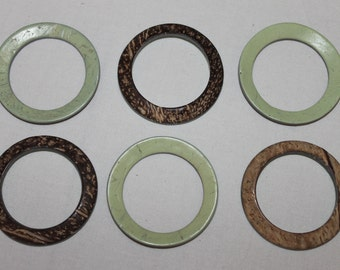 Green bookbinding materials hardware etsy studio for Large plastic rings for crafts