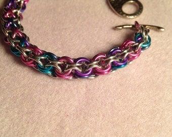 Inverted Round Chain Bracelet