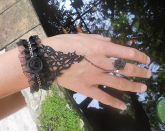 lace bracelet and chain.