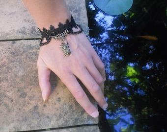 lace and OWL bracelet.