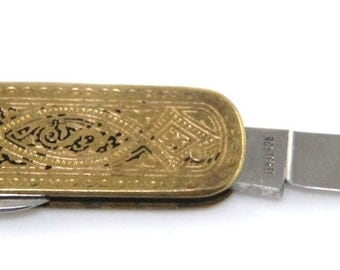 Art deco decorated pocket knife