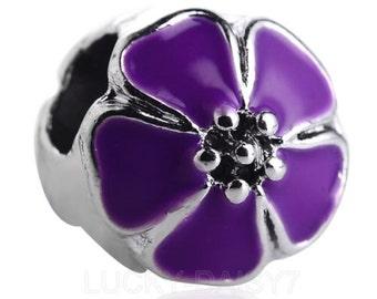 1pc Purple Flower Charm