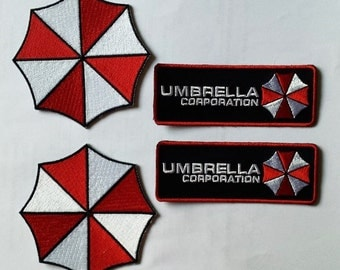 VELC. Hook Fastener New Resident Evil Umbrella Corporation Costume [Set of 4] Patches …