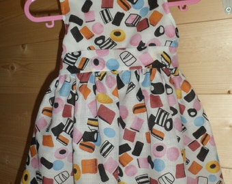 Babies Alllsorts Print Party Dress with Bow and Buttons 0-6 months