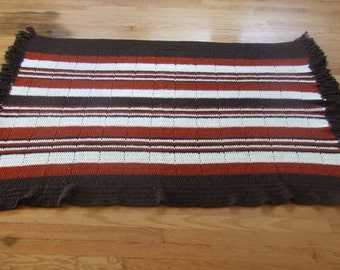 Afghan/throw knitted free shipping