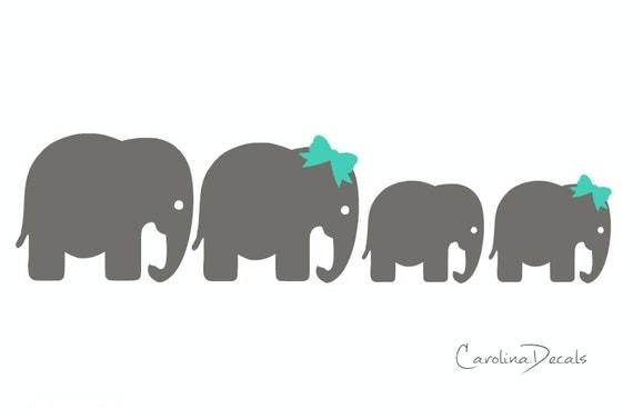 Items Similar To Elephant Family Car Decal Family Car