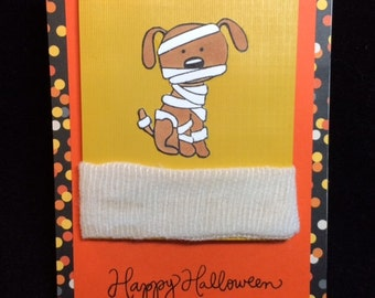 Dog Mummy Halloween Greeting Card