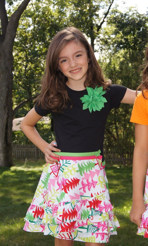 Girls boutique skirt holiday christmas