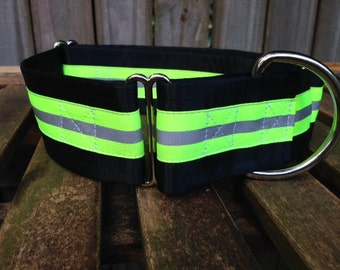 Reflective Neon Lime Green Dog Collar