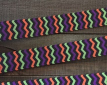 Halloween Ribbon 7/8, Chevron Ribbon