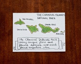Channel Islands National Park Map - Original Artwork