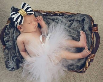 Newborn and Child Tutu with Bow - Variety of colors