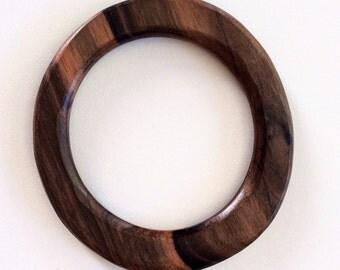 Nice wood bangle, Natural wood bangle bracelet, dark brown bangle, tiger Ebony bangle bracelet