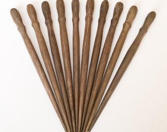 Natural Wood Hair Sticks Graywood p-top 6 1/2 inch. 10 pcs.