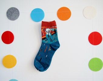 The Scream Artistic Socks