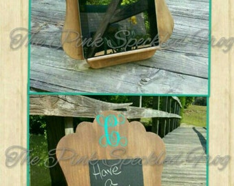 Ipad holder/chalkboard sign